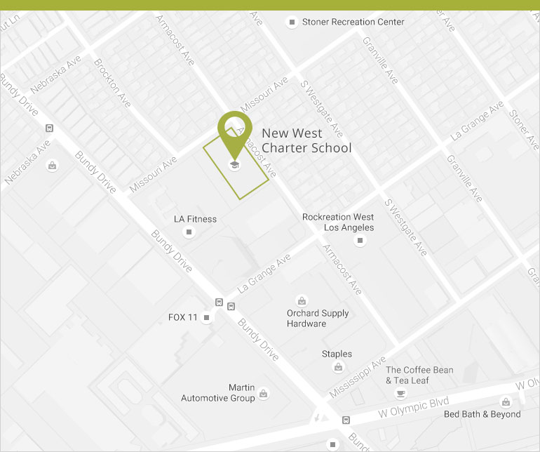 Contact Us New West Charter School - Los angeles us map