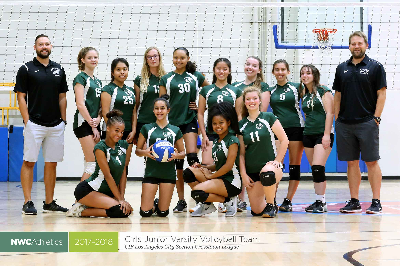 2017-2018 New West Charter Eagles Girls Junior Varsity Volleyball Team